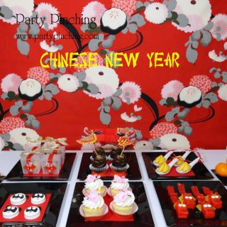 Chinese New year party ideas, Chinese new year table, Lunar new year celebration, Chinese New year dessert food ideas, cute food, fun food for kids, Chinese new year party ideas for kids