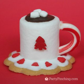 Hot Cocoa Marshmallow cookies, cute food, fun food for kids, Christmas cookie, easy Christmas cookies, cute Christmas cookie