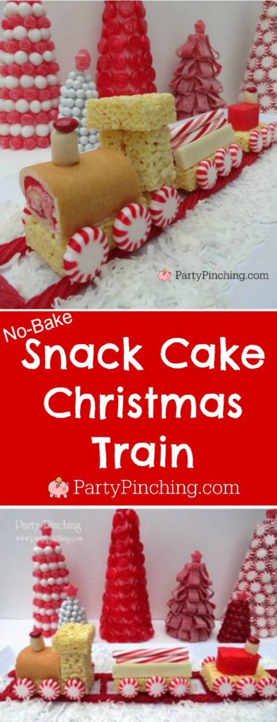 Sweet Christmas Train, cute food for Christmas, Peppermint Train, easy Christmas desserts for kids
