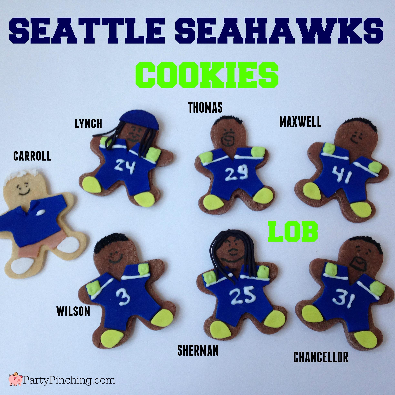 Seattle Seahawks cookies, Richard Sherman cookie, Pete Carroll cookie, Russell Wilson cookies, Marshawn Lynch cookie, Earl Thomas cookie, Kam Chancellor cookie, Byron Maxwell cookie
