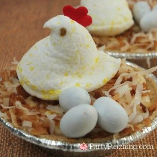 SPRING CHICKEN PEEP PUDDING PIES