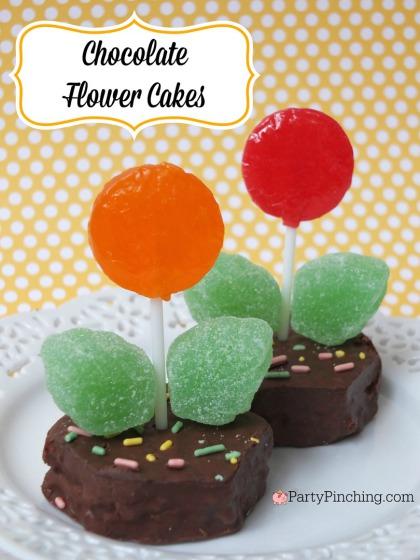 Chocolate Flower Cake Easy Lollipop Flower Cake Recipe