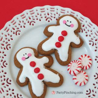 Easy No-Bake Christmas Gingerbread Cookies