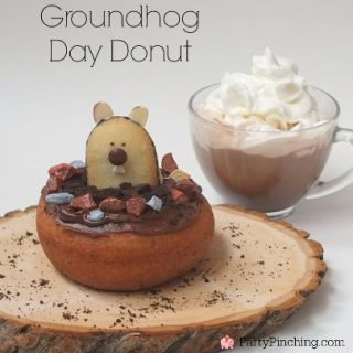 "We just had over 10 inches of snow here (very rare in the Seattle area) and the weather got me thinking about just how long winter was going to last. So I created ""Breakfast with Punxsutawney Phil"" for Groundhog's Day! groundhog's day, groundhog's day treat, groundhog's day cute, punxsutawney phil breakfast, groundhog donut, chocolate spoon, groundhog spoon, groundhog party, groundhog snack groundhog's day, groundhog's day treat, groundhog's day cute, punxsutawney phil breakfast, groundhog donut, chocolate spoon, groundhog spoon, groundhog party, groundhog snack groundhog day donut Another version I made for Tablespoon.com - get the step by step tutorial here. groundhog's day, groundhog's day treat, groundhog's day cute, punxsutawney phil breakfast, groundhog donut, chocolate spoon, groundhog spoon, groundhog party, groundhog snack Don't let me down Phil, I'm counting on an early spring!"