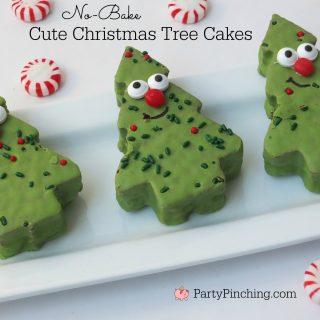 CUTE CHRISTMAS TREE CAKES