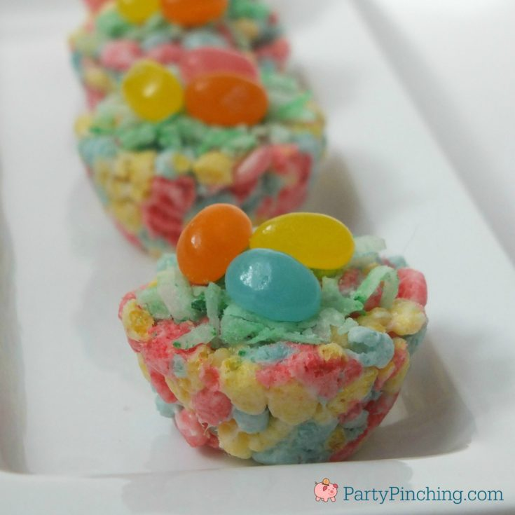 Marshmallow Treat Easter Cups