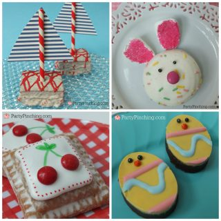 Little Debbie Spring snacks, cute food, easy Easter dessert ideas for kids, fun food for kids