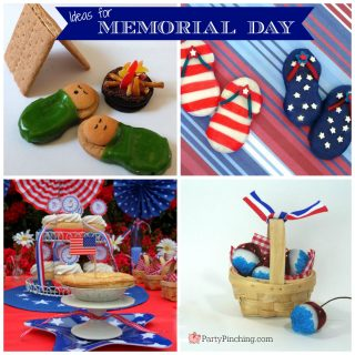 Memorial Day weekend ideas, Memorial Day camping cookies, Memorial Day s'mores recipes, Memorial day weekend DIY desserts, Memorial Day desserts treats snacks food picnic, cute food, fun food for kids