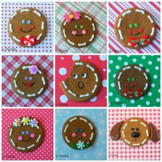 No-Bake Gingerbread Heads