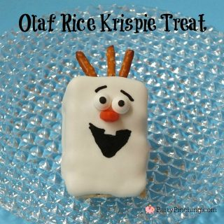 Olaf rice krispie treat, Olaf dessert, movie Frozen party treat ideas, Frozen cute dessert, fun food for kids, cute food