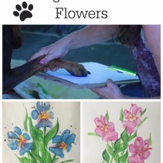 Paw Print Flowers