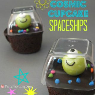 Little Debbie Cosmic cupcakes, alien cupcakes, martian cupcakes, space cupcakes, fun food for kids, cute food, space party ideas, alien party ideas