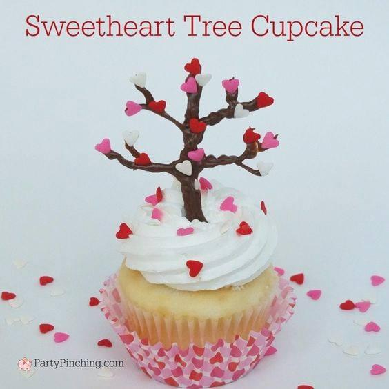 Sweetheart Tree Cupcakes