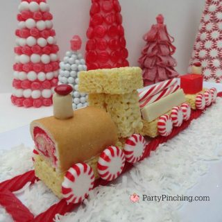 Christmas train cake, Little Debbie Christmas snack cakes, cute food, Christmas dessert ideas, fun and easy Christmas party food ideas, fun food for kids, cute food