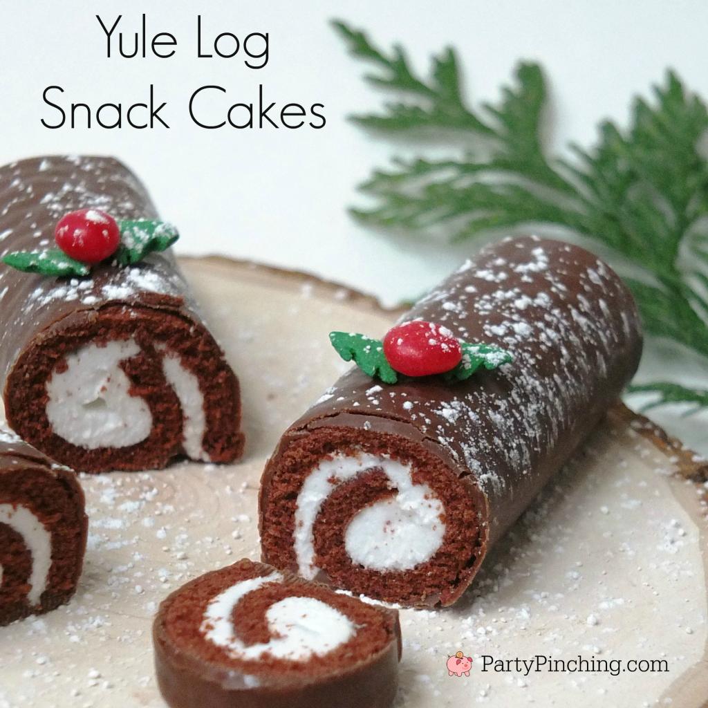 Yule Log Snack Cakes Party Pinching
