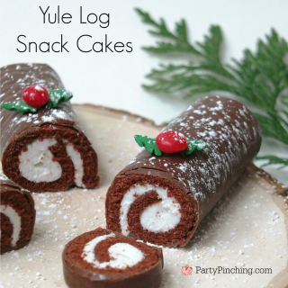 YULE LOG SNACK CAKES