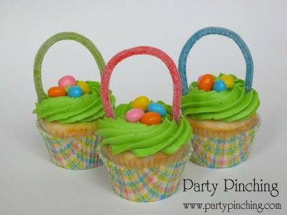 Best Easter food and craft ideas, Easter basket cupcakes