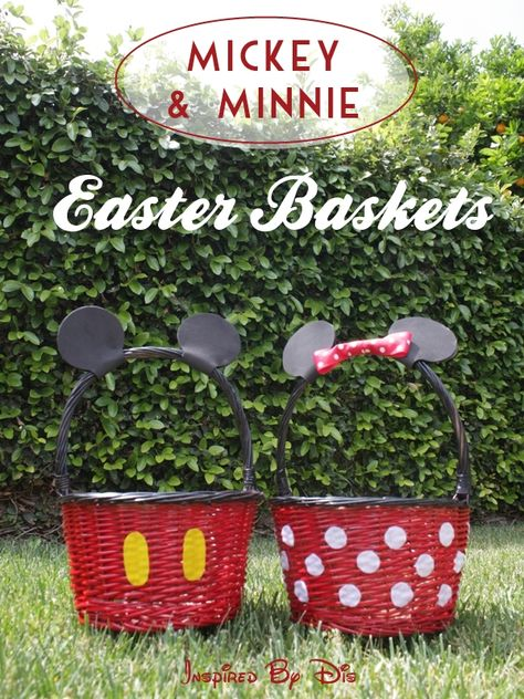 Best Easter food and craft ideas, DIY Mickey and Minnie Disney Easter Baskets