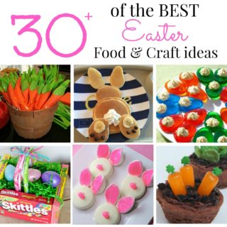 Best Easter food and craft ideas, cute easy Easter food and crafts for kids, Best bunny cookies, pancakes Easter carrot utensils