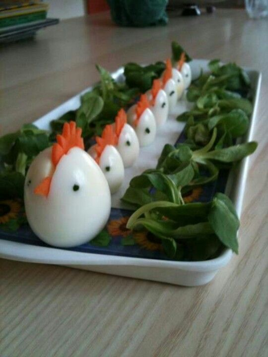 Best Easter food and craft ideas, hard boiled hen eggs for Easter brunch