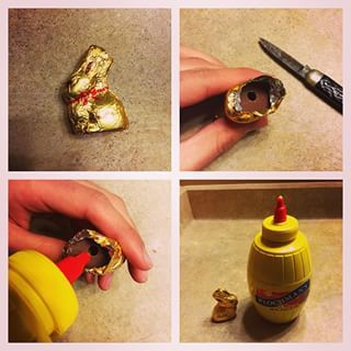 April Fools day food pranks chocolate bunny filled with mustard
