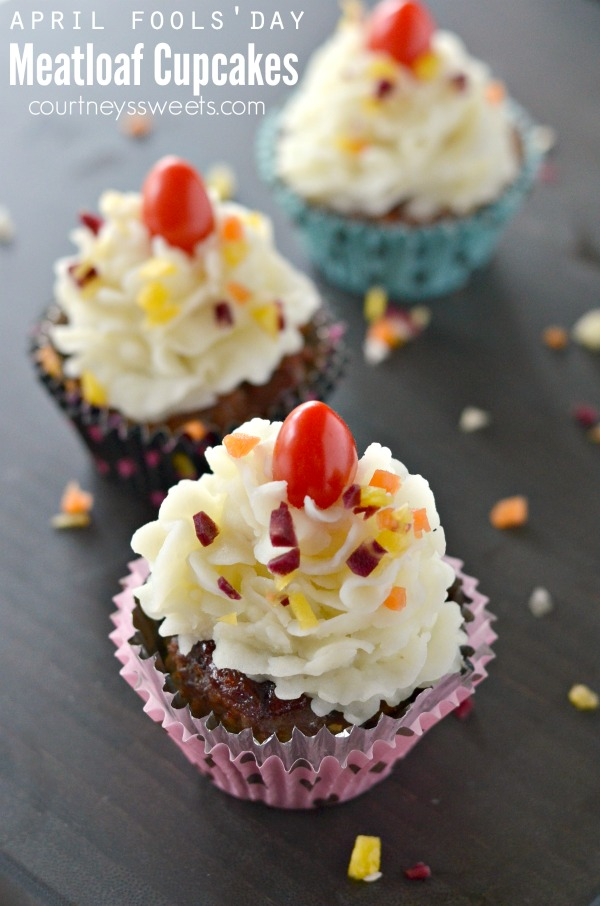 April Fools day food pranks meatloaf cupcakes and mashed potato frosting