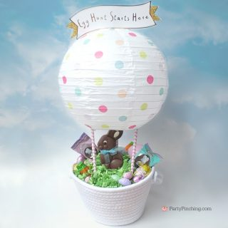 Hot Air Balloon Bunny Basket