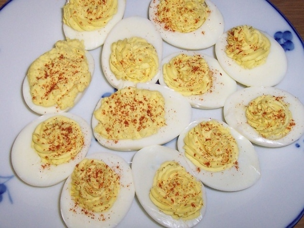 April Fools' Food pranks deviled eggs with buttercream filling
