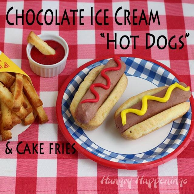 ice cream hot dog and pound cake french fries & bun April Fools' Day food pranks, fun food imposters for kids, trick your friends and family