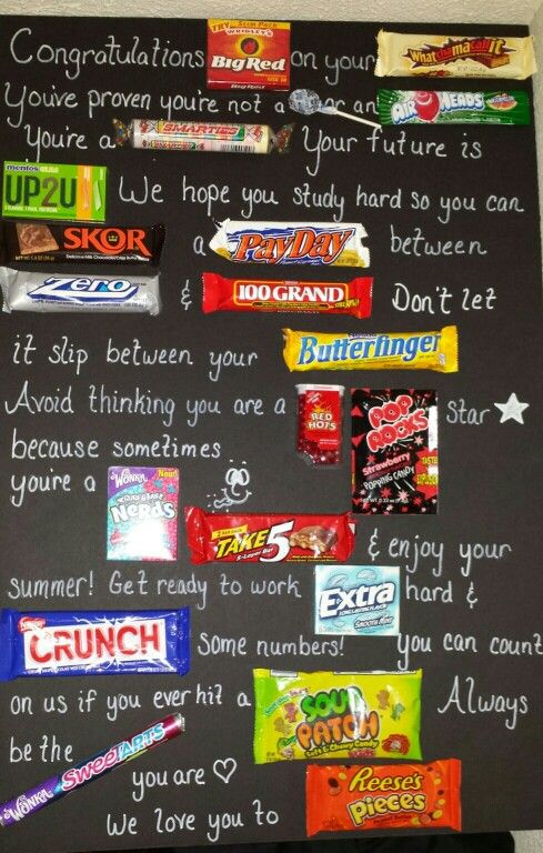 Best creative diy graduation gifts that grads will love candy bar poster graduation gift best graduation gift ideas fun and easy diy graduation solutioingenieria Gallery