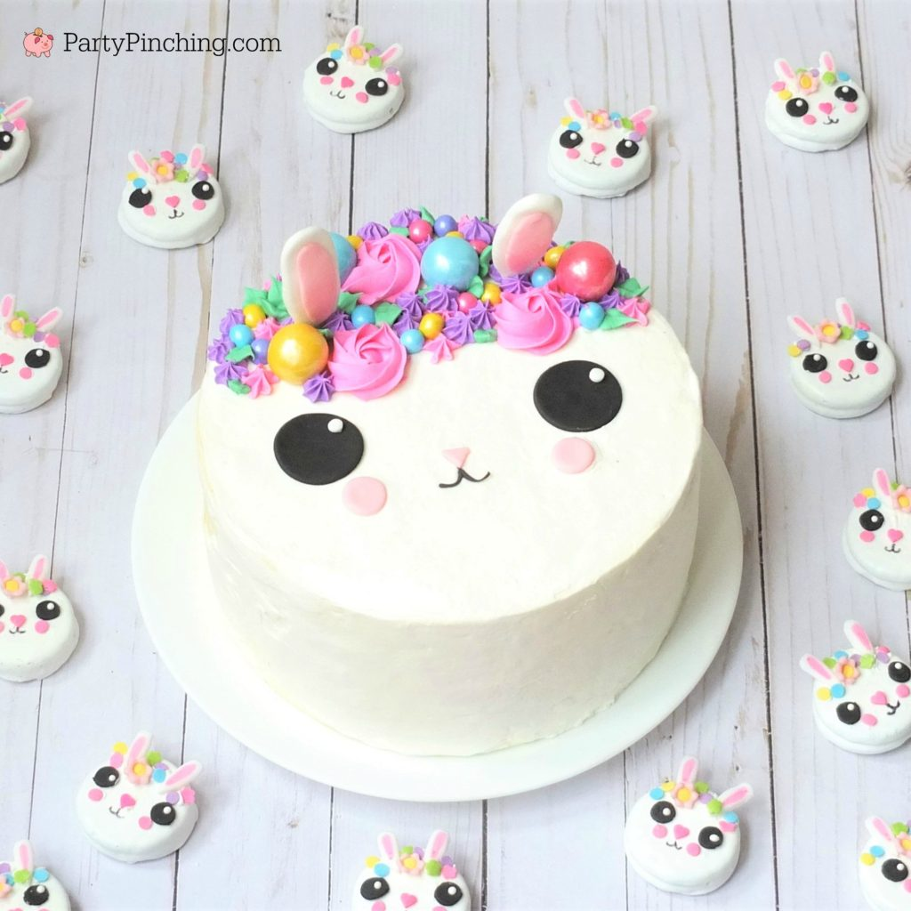 Best Bunny Easter cake and Best bunny Oreo cookies, cute & easy to make Easter desserts