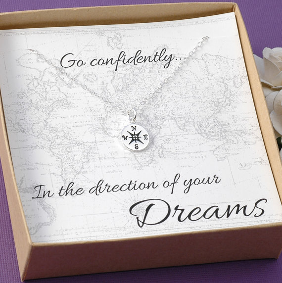 compass necklace for grads, creative gifts for grads, gifts grads love, creative ways to give money, teen gifts, Best Graduation gift ideas, fun and easy DIY graduation grad gifts, thoughtful graduation gift, money origami graduation gifts, money gift cards graduation gift ideas