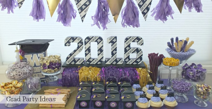 Best Grad party open house decoration food decor dessert ideas