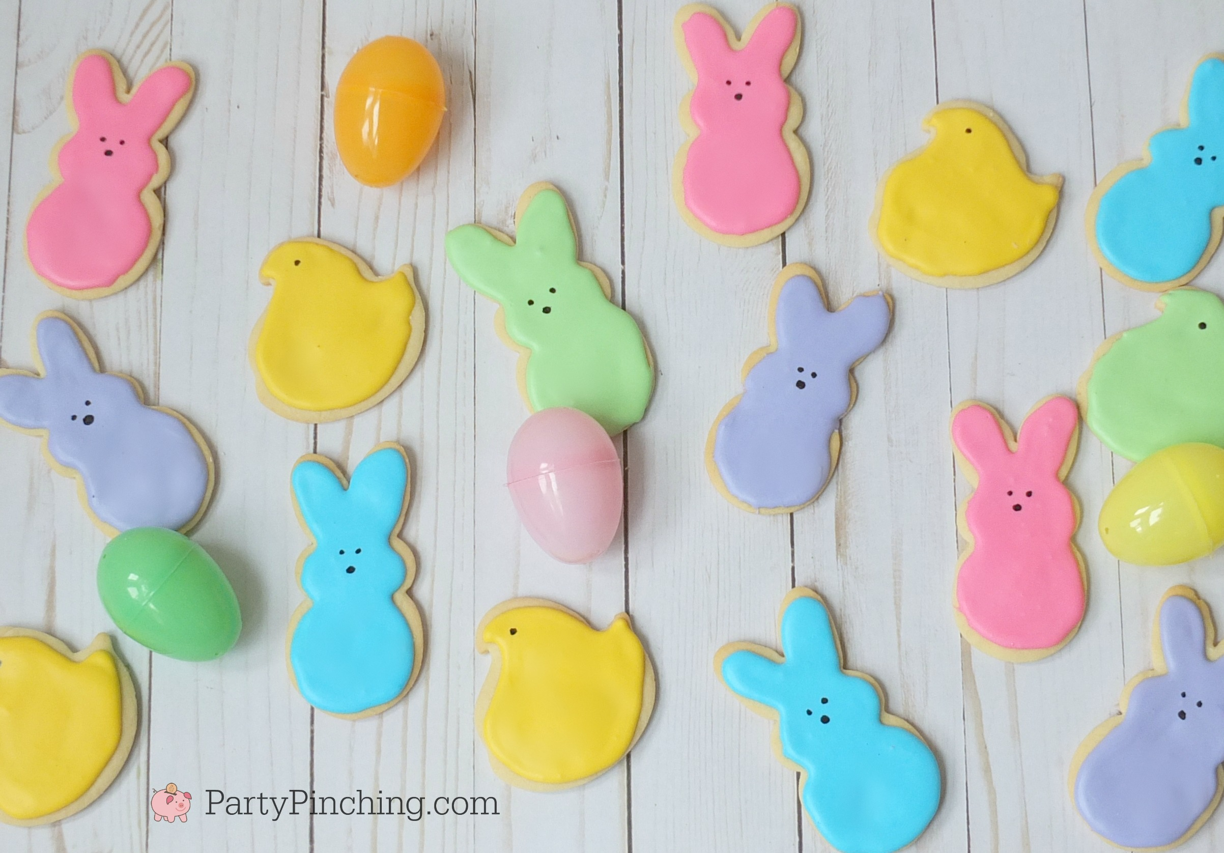 Peeps, Peep cookies, Easter dessert ideas spring peeps, cute food, cute peeps, easter peeps, bunny peeps, easter party ideas, peep party