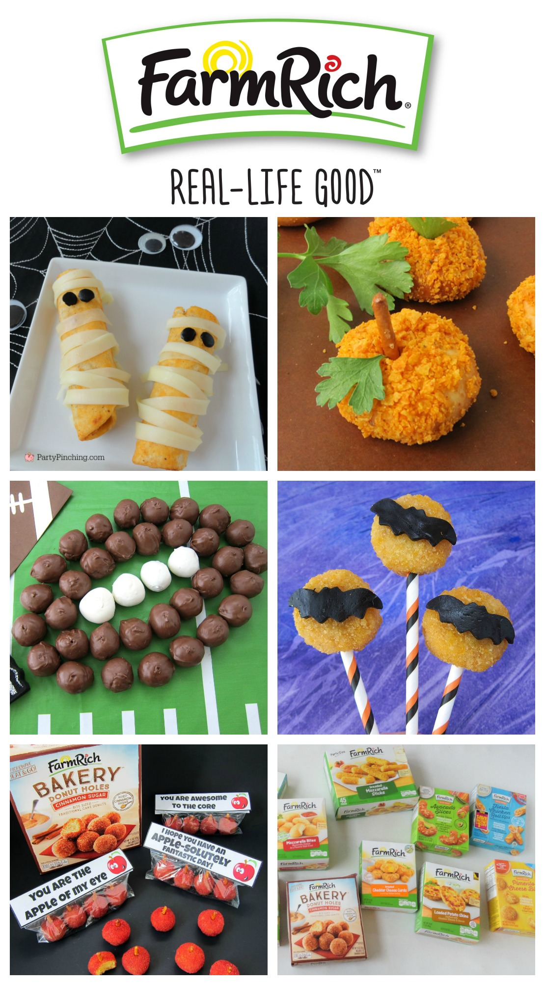 Halloween appetizers, Halloween snacks, Halloween party ideas for kids, fun food, mummy food appetizers, Farm Rich