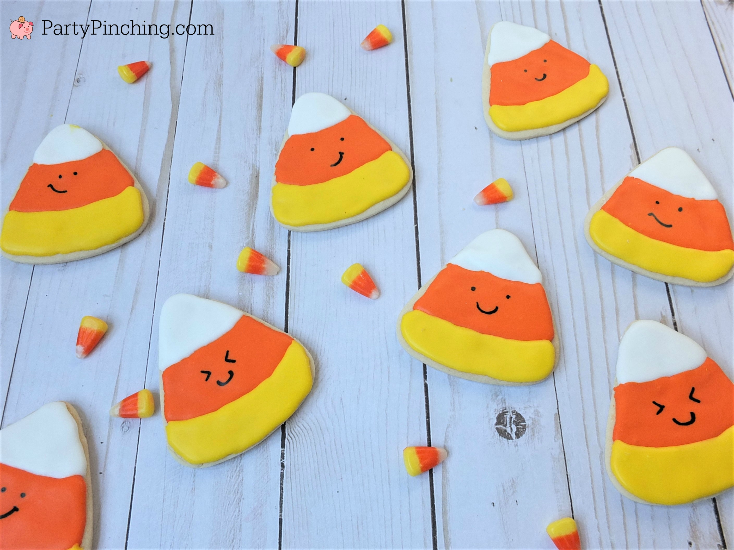 Halloween sugar cookies decorated royal icing, ghost banner cookies, cute Halloween cookies, black cat cookies, bat cookies, cute candy corn cookies, cute pumpkin jack o lantern cookies