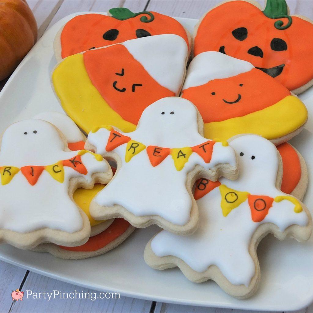 Halloween Sugar Cookies Decorated Ghost Banner Cookies
