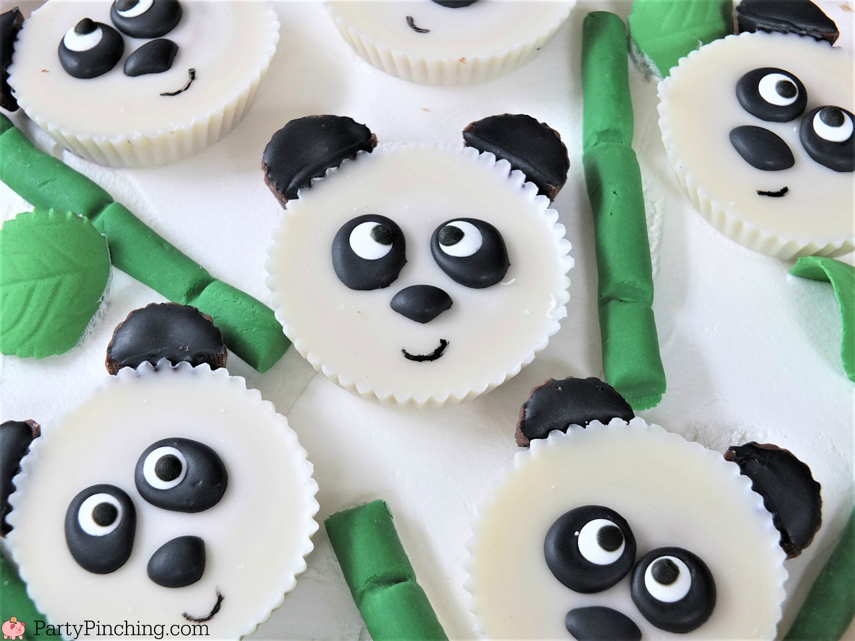 Panda Peanut Butter Cups Cute Cake For Panda Party