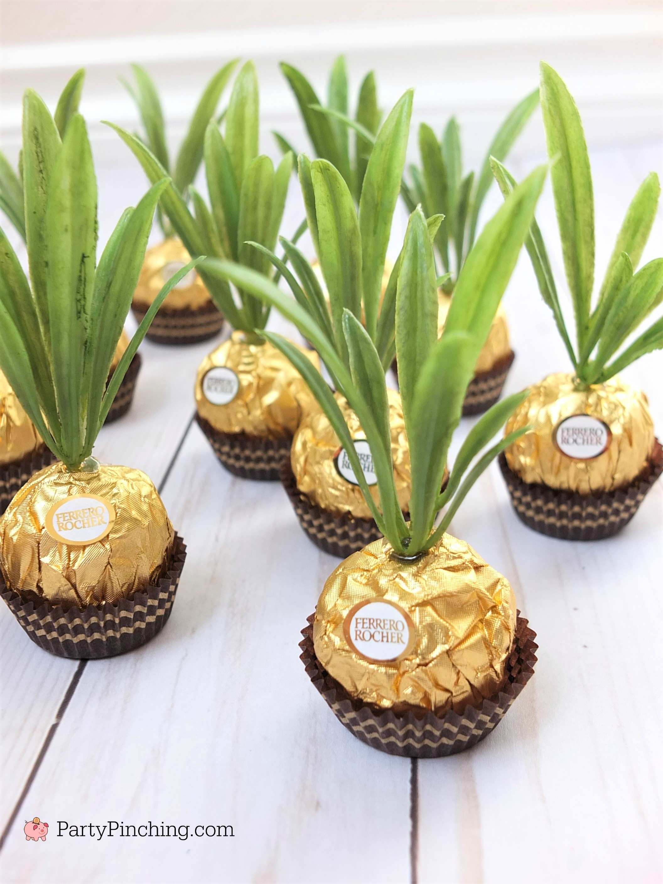 Ferrero Rocher Pineapple Candy Favors Are Adorable And So