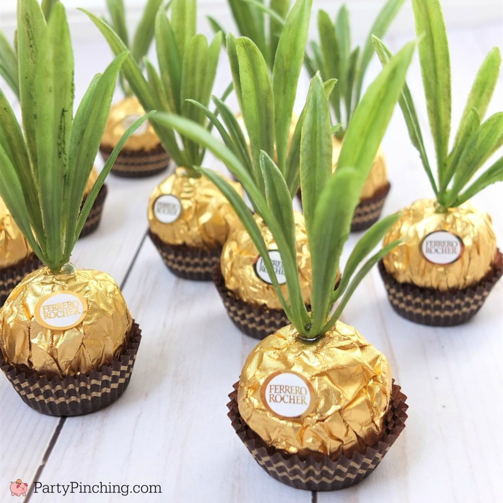 Ferrero Rocher pineapple candy favors are adorable and so ...