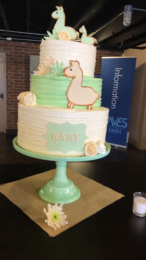 baby llama cake, baby shower ideas, cute baby shower, best baby shower ideas, baby shower cake, fun games for baby shower, baby shower food