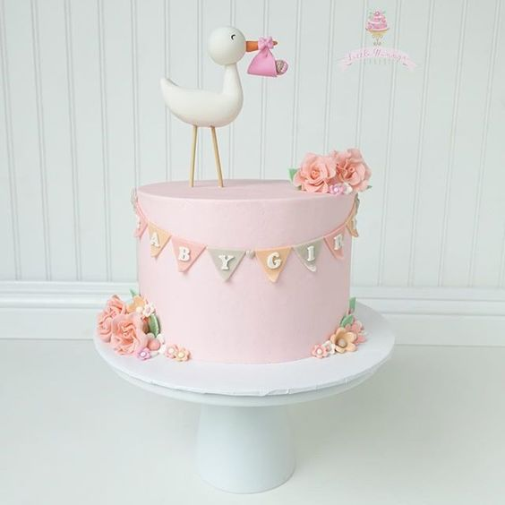 stork baby cake, baby shower ideas, cute baby shower, best baby shower ideas, baby shower cake, fun games for baby shower, baby shower food
