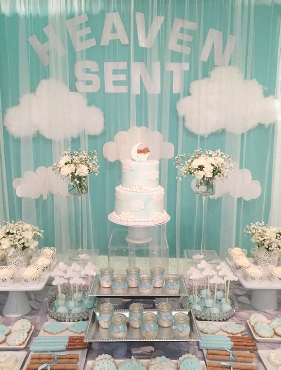 Heaven sent baby shower, baby shower ideas, cute baby shower, best baby shower ideas, baby shower cake, fun games for baby shower, baby shower food