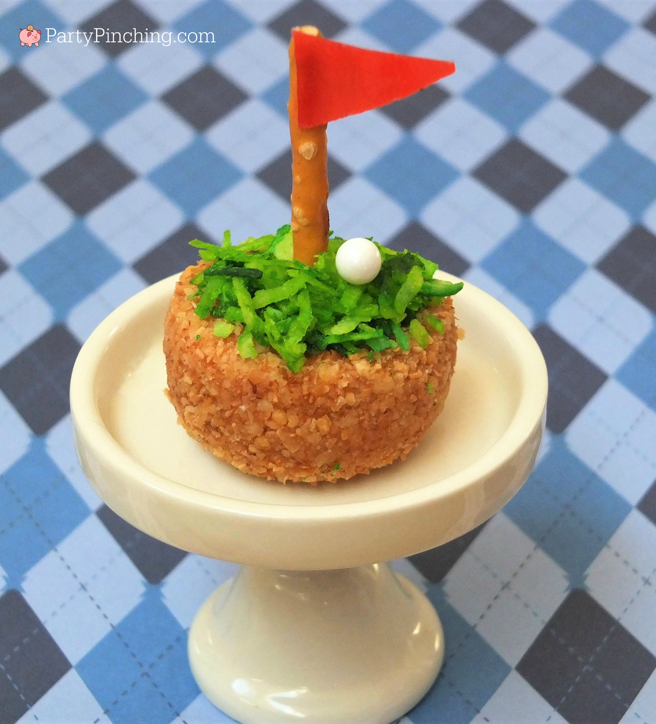 golf donut, golf party ideas, golf theme party, Father's Day golf ideas