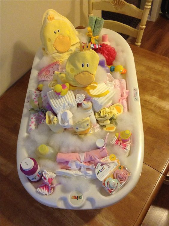 best baby shower gift baby tub filled with gifts, baby shower ideas, cute baby shower, best baby shower ideas, baby shower cake, fun games for baby shower, baby shower food