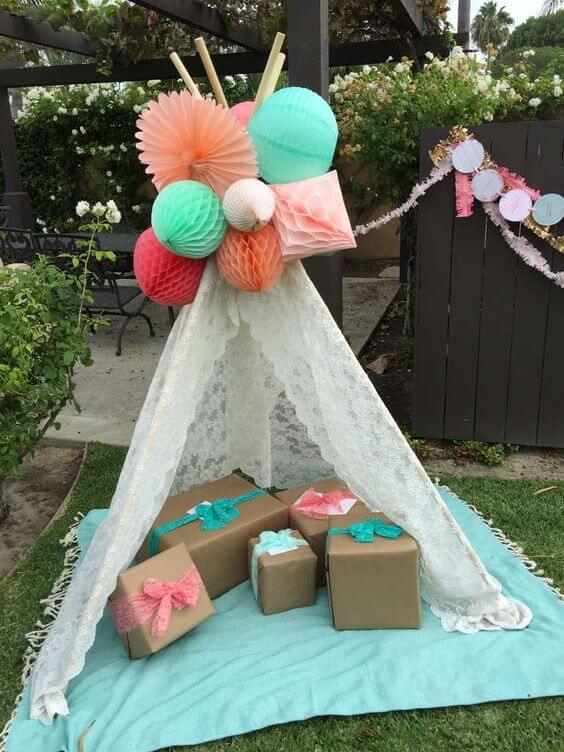 baby boho tee pee tribal tent, baby shower ideas, cute baby shower, best baby shower ideas, baby shower cake, fun games for baby shower, baby shower food