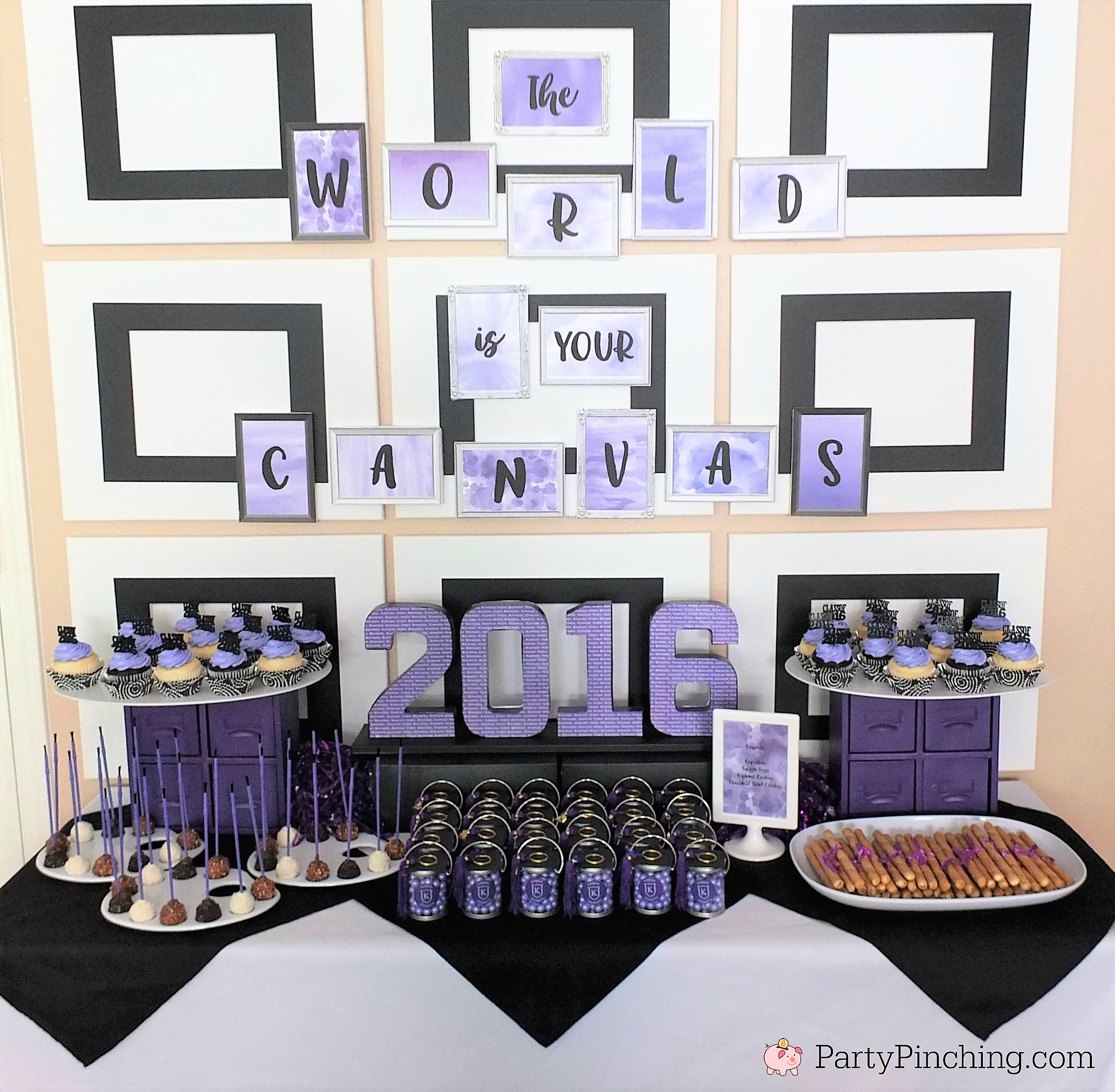 Home Design Ideas For Seniors: Art Theme Graduation Party