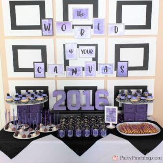 Art Theme Graduation Party