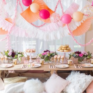 BEAUTIFUL BOHO SLUMBER PARTY