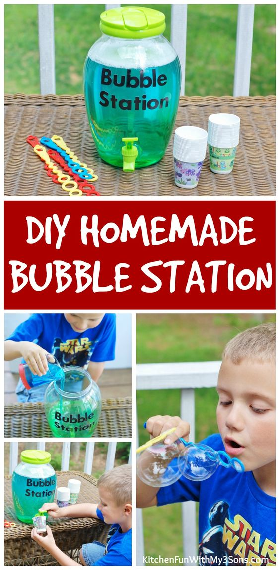 diy homemade bubble station, awesome ideas to keep kids busy summer, backyard party ideas , Best summer backyard games and outdoor activities for kids, diy summer projects for kids,fun ideas for kids summer , fun summer ideas for children, lots of summer activities for kids, outdoor games for summer,